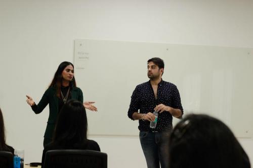 School of Fashion Mentor - Khushbu Shetty and Nishankh Sainani